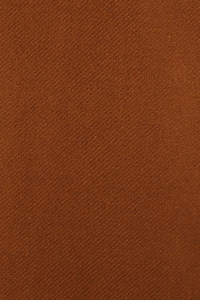 Aus Woll-Mix: Mantel mit Stehkragen, TOFFEE, detail image number 4