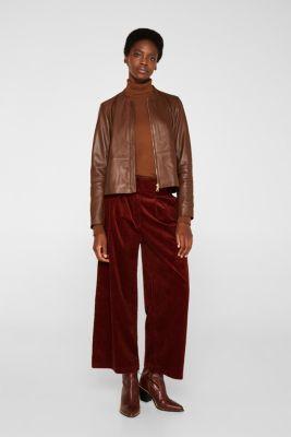 Made of leather: feminine jacket, CARAMEL, detail