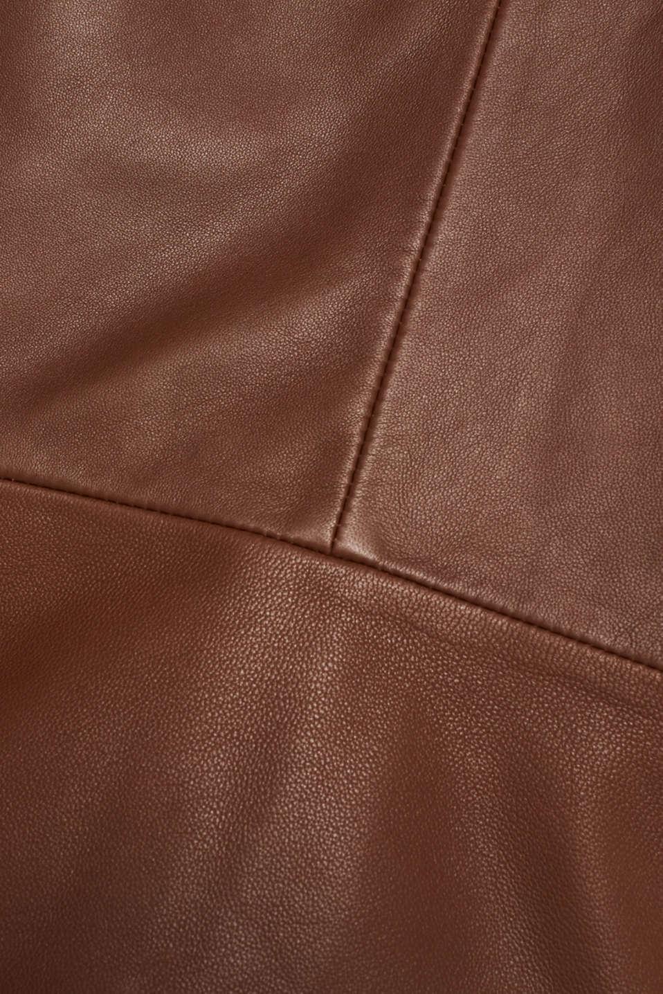 Made of leather: feminine jacket, CARAMEL, detail image number 4