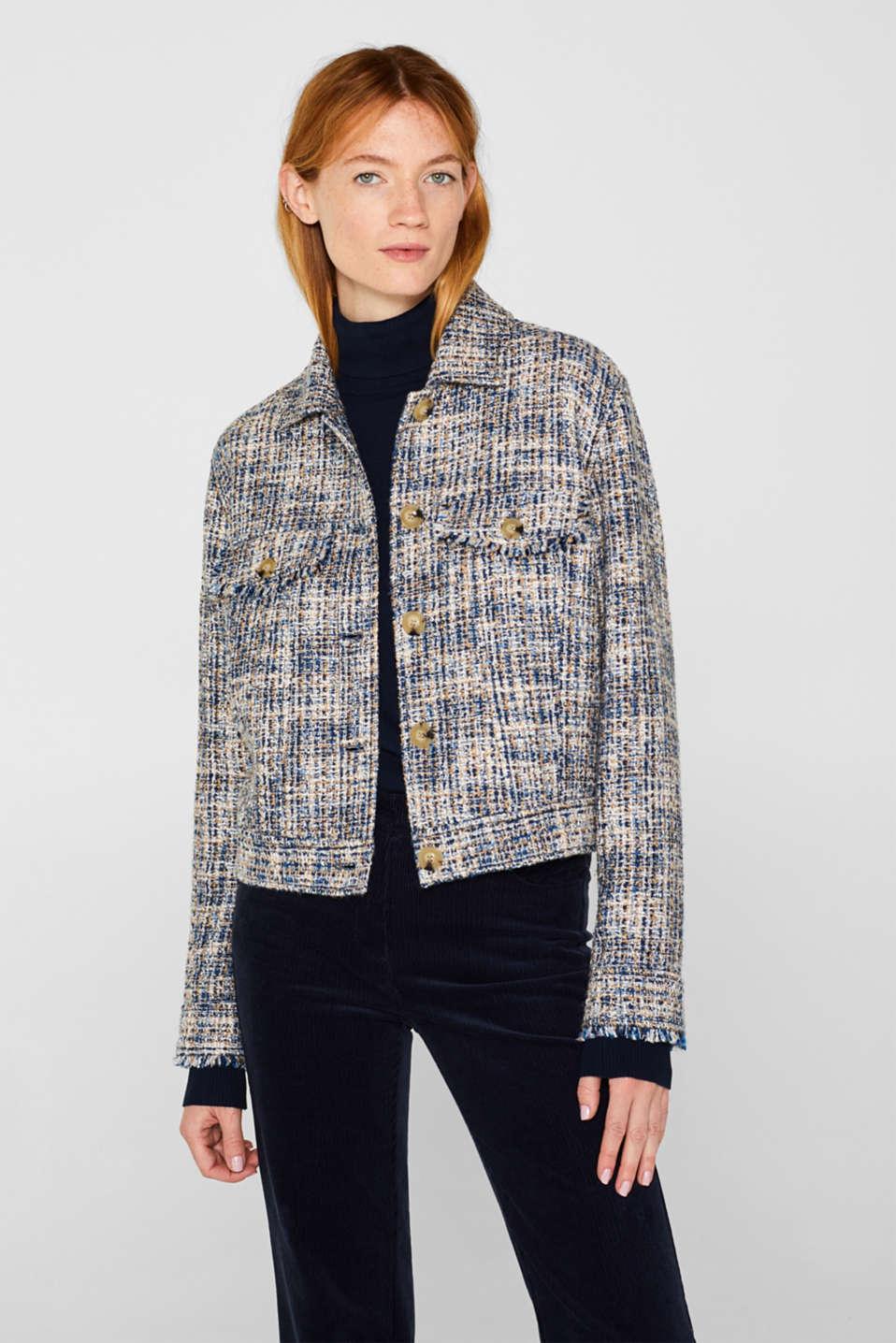 Jackets indoor woven, NAVY, detail image number 0
