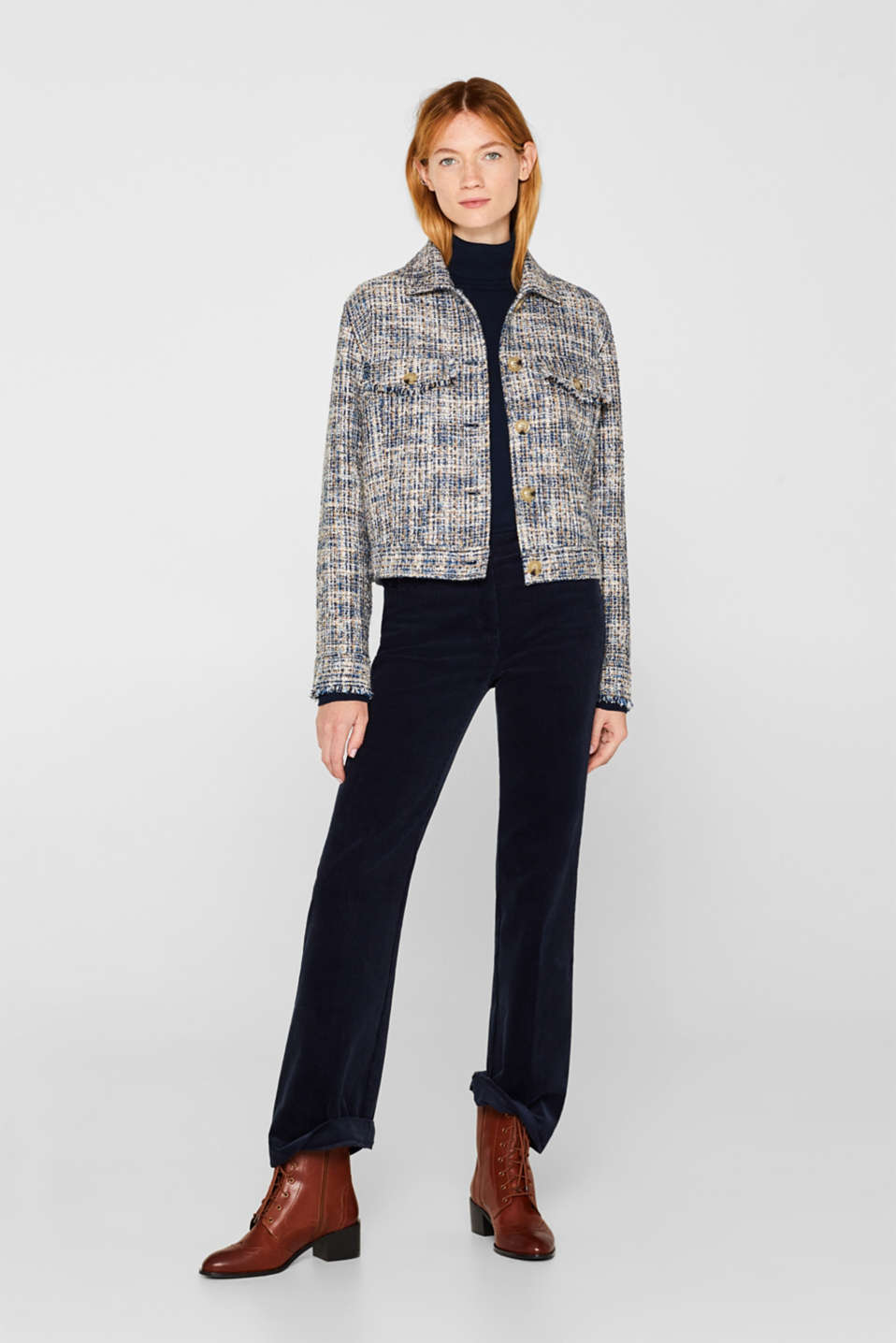 Jackets indoor woven, NAVY, detail image number 1