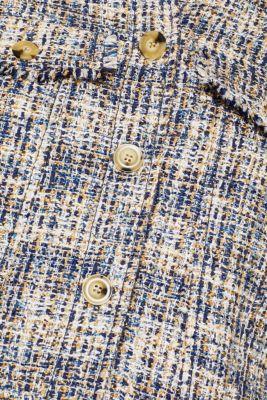 Short tweed jacket with fringing