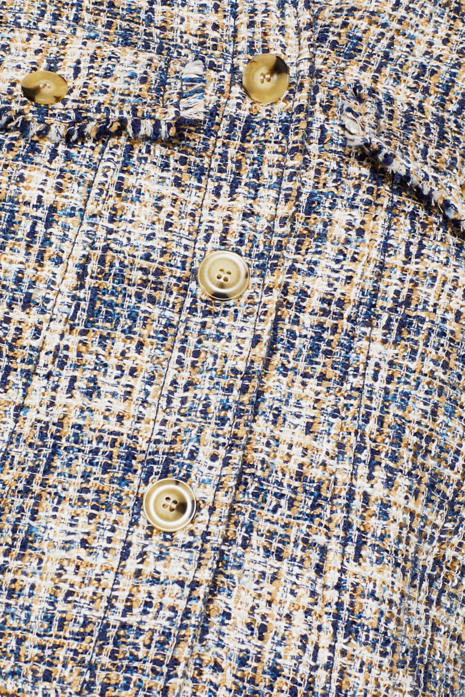 Jackets indoor woven, NAVY, detail image number 4