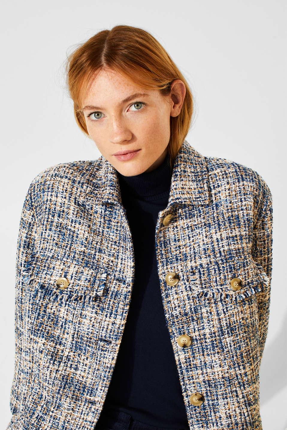 Jackets indoor woven, NAVY, detail image number 6
