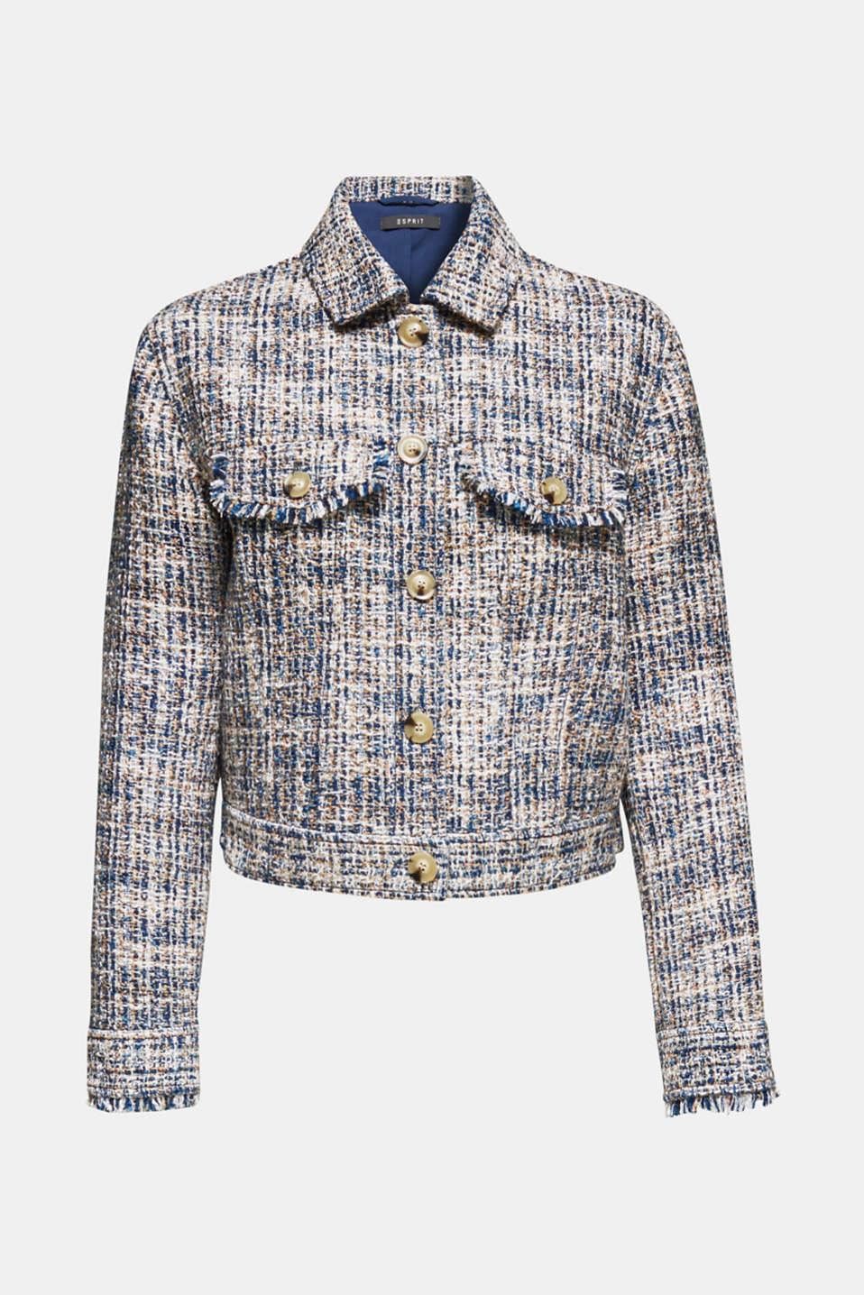 Jackets indoor woven, NAVY, detail image number 7