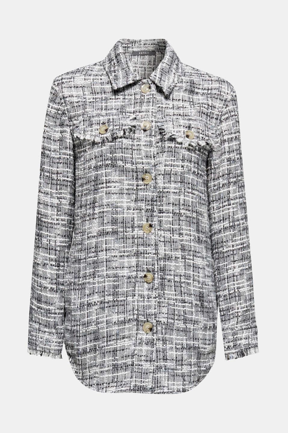 Jackets indoor woven, BLACK, detail image number 7