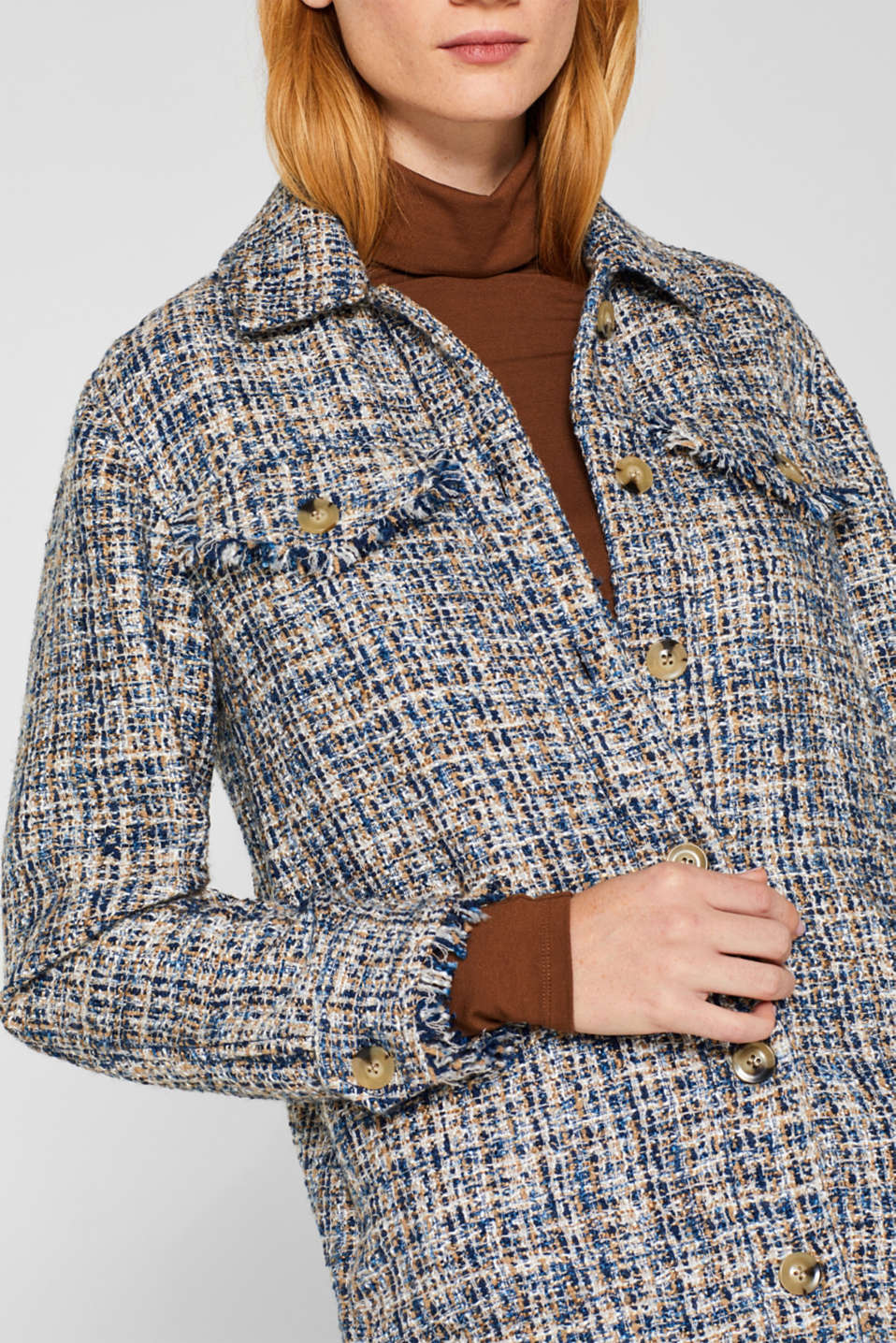 Jackets indoor woven, NAVY, detail image number 2