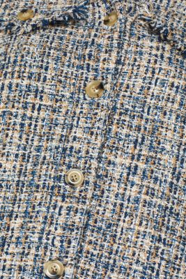 Checked shirt jacket in tweed