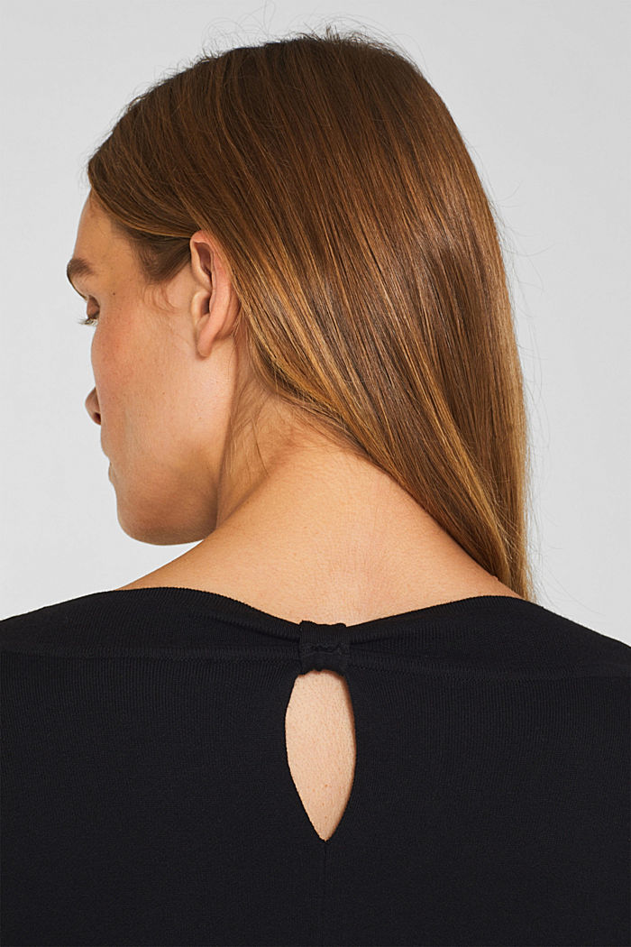 Stretch jumper with batwing sleeves, BLACK, detail image number 2