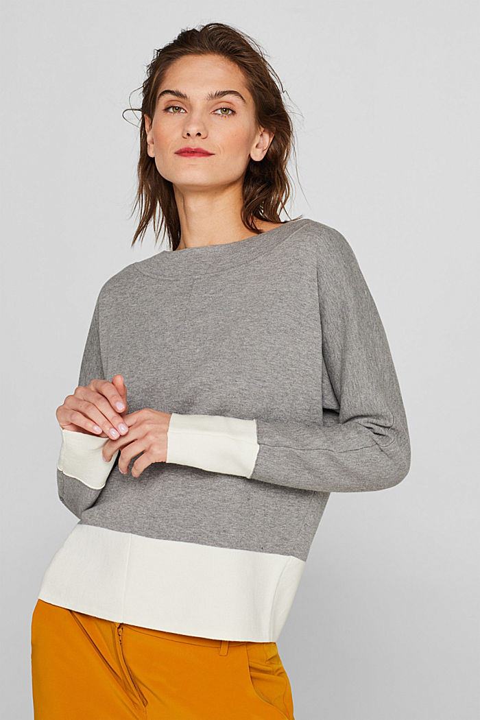 Stretch jumper with batwing sleeves, NEW GREY, detail image number 0