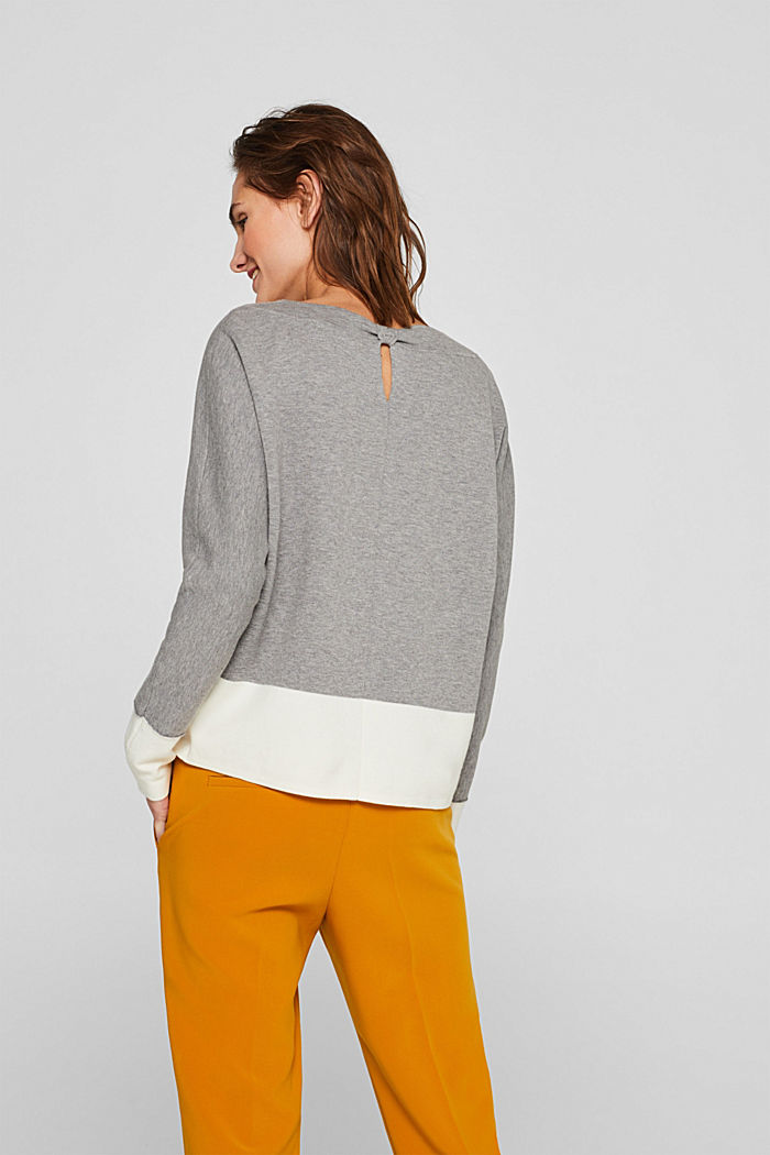 Stretch jumper with batwing sleeves, NEW GREY, detail image number 3
