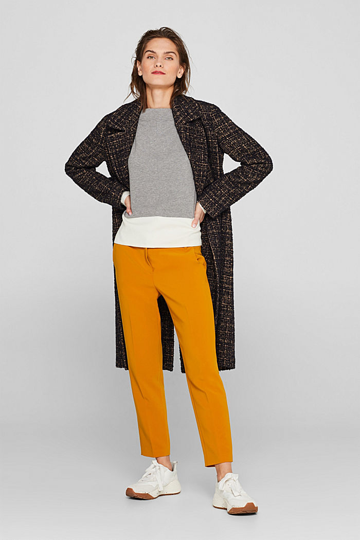 Stretch jumper with batwing sleeves, NEW GREY, detail image number 1