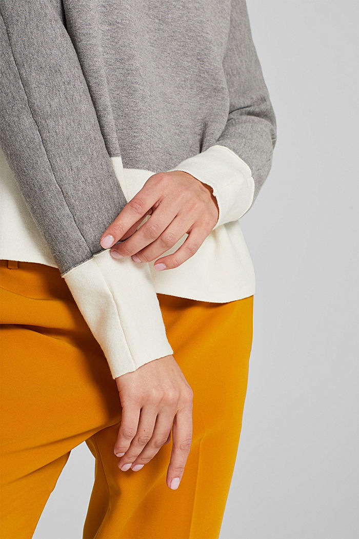 Stretch jumper with batwing sleeves, NEW GREY, detail image number 2