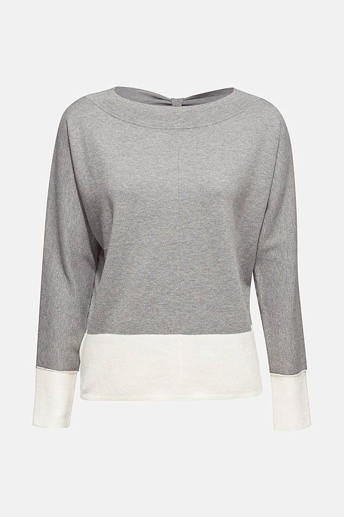 Stretch jumper with batwing sleeves, NEW GREY, detail image number 5