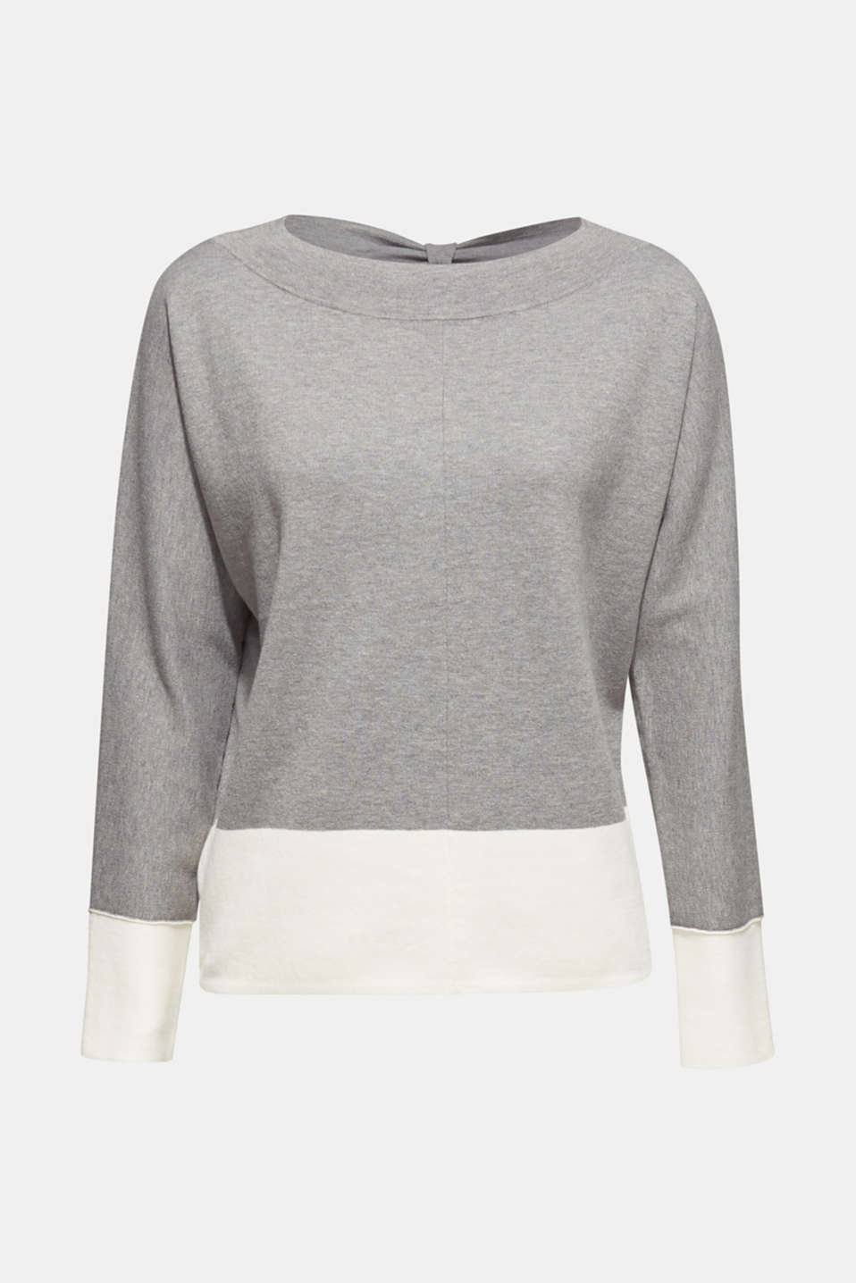Esprit - Stretch jumper with batwing sleeves