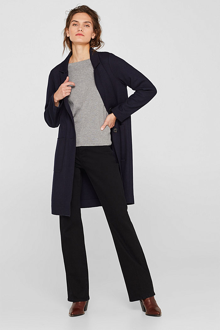 Stretch jumper with batwing sleeves, GREY, detail image number 1