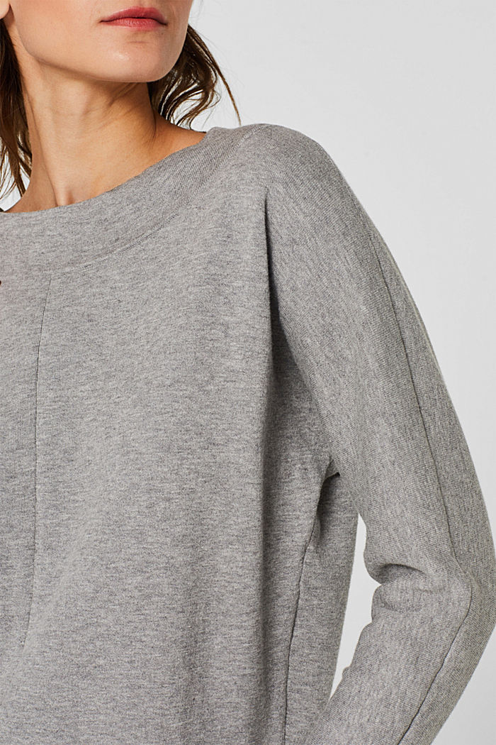 Stretch jumper with batwing sleeves, GREY, detail image number 2