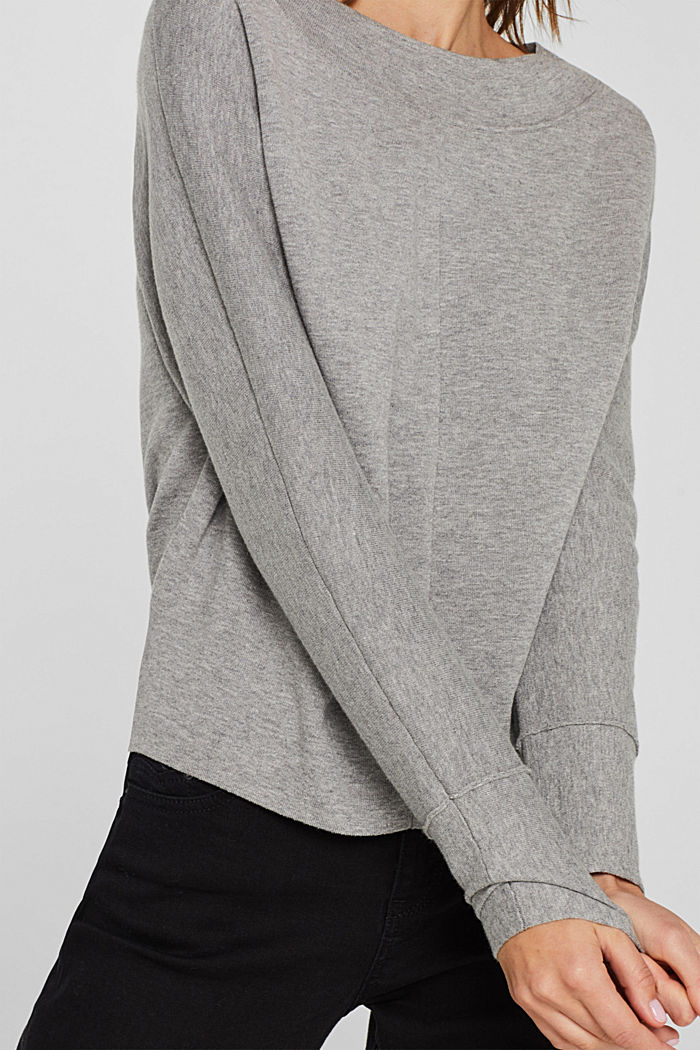 Stretch jumper with batwing sleeves, GREY, detail image number 5