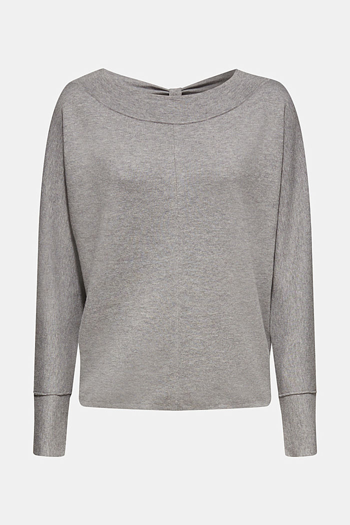 Stretch jumper with batwing sleeves, GREY, detail image number 6