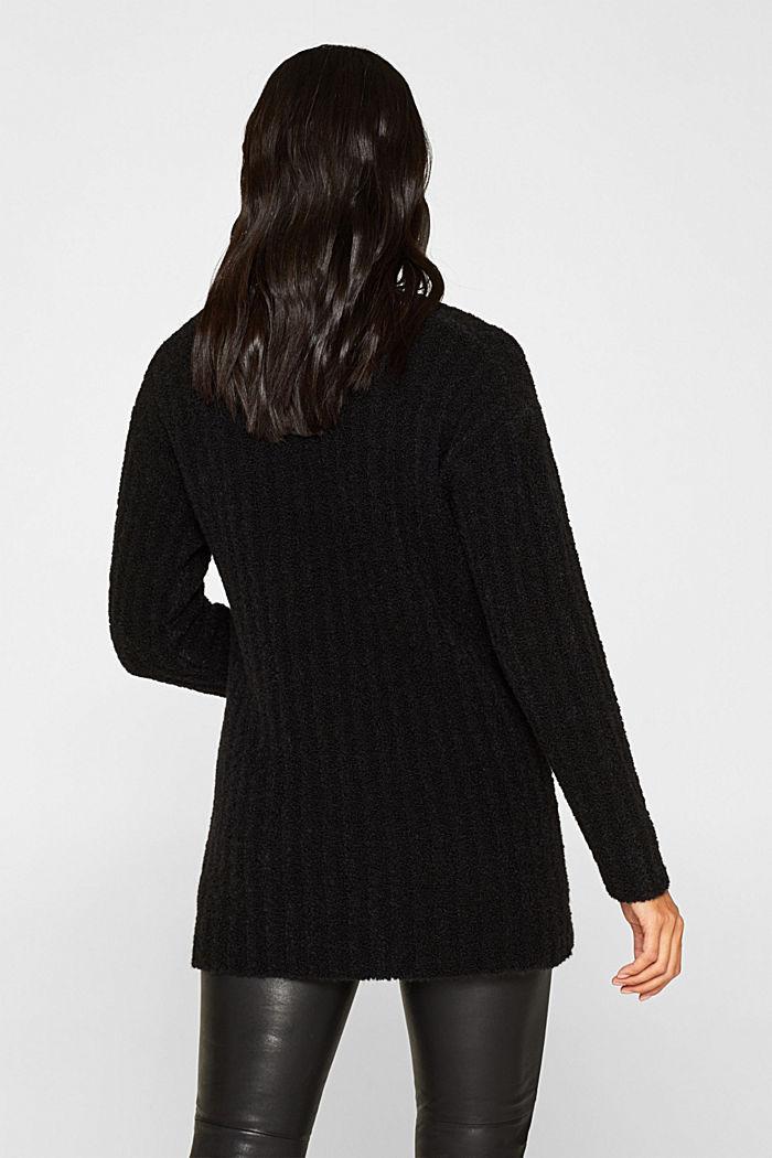 Mit Alpaka: Pullover mit Struktur, BLACK, detail image number 3