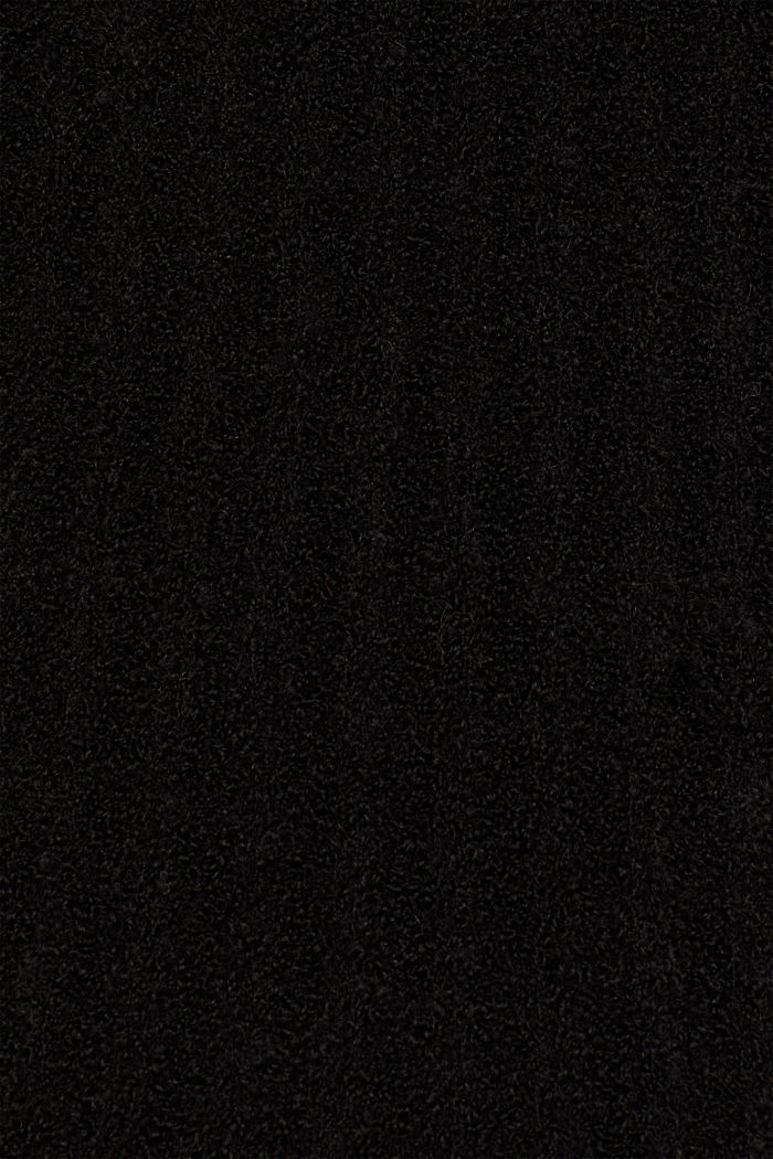 Mit Alpaka: Pullover mit Struktur, BLACK, detail image number 4