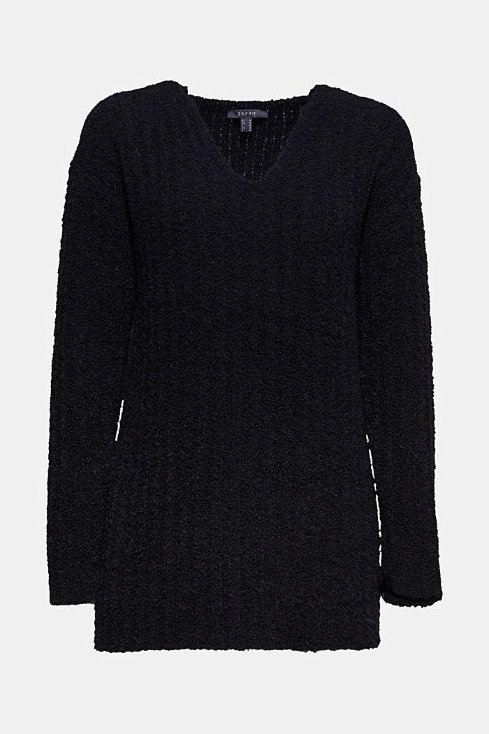 Mit Alpaka: Pullover mit Struktur, BLACK, detail image number 6