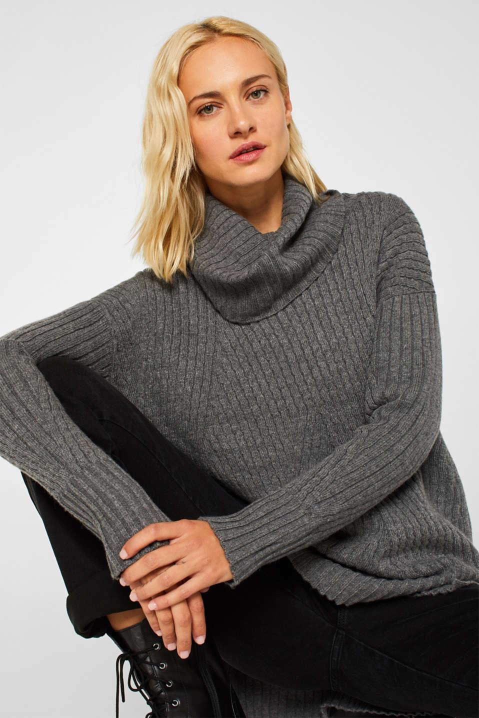 Sweaters, GUNMETAL 5, detail image number 0