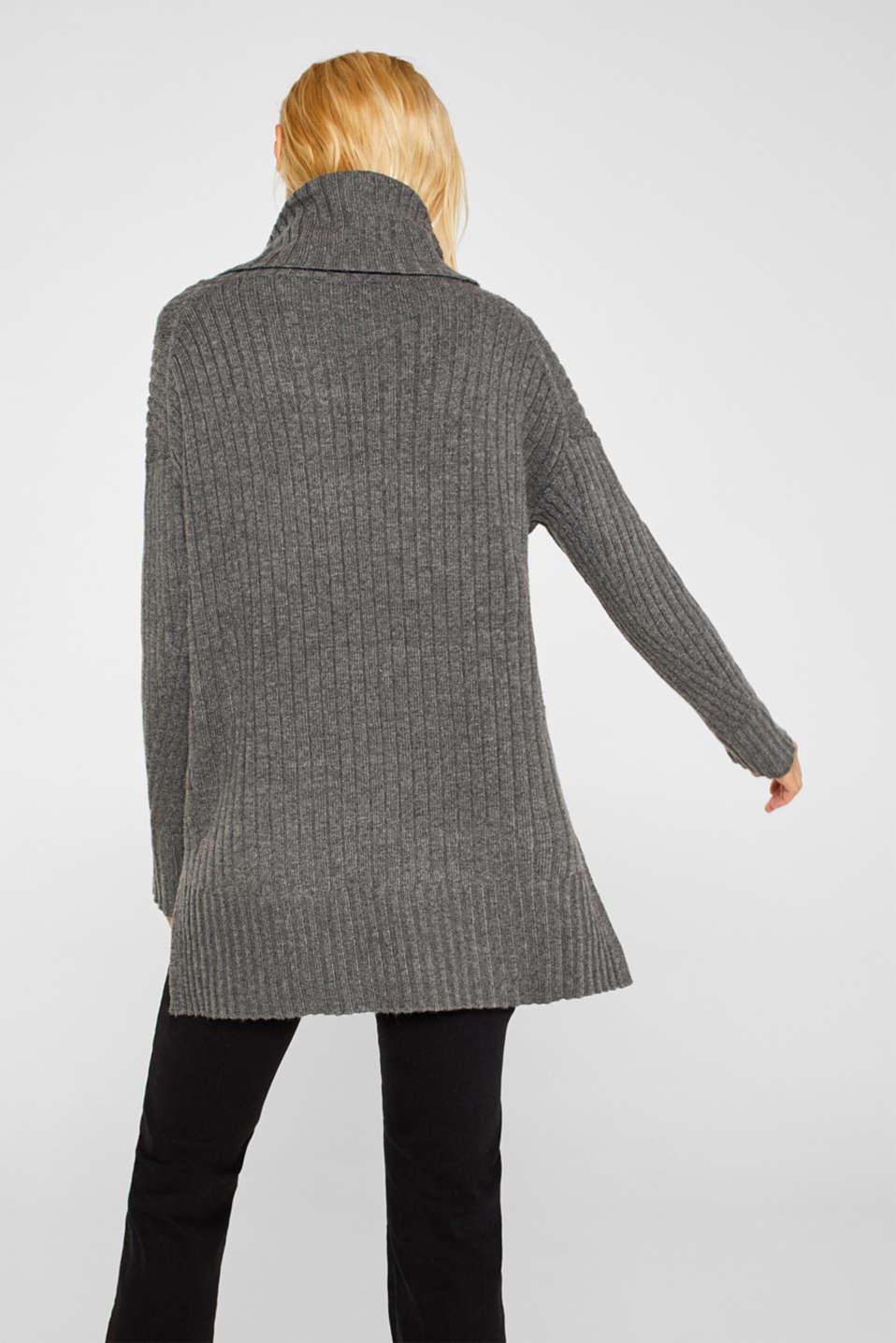 Sweaters, GUNMETAL 5, detail image number 2