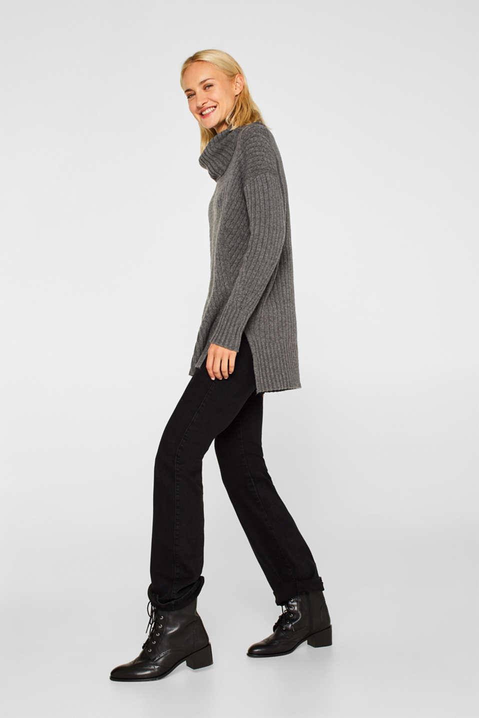 Sweaters, GUNMETAL 5, detail image number 1
