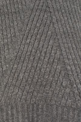 Cashmere blend: textured polo neck jumper