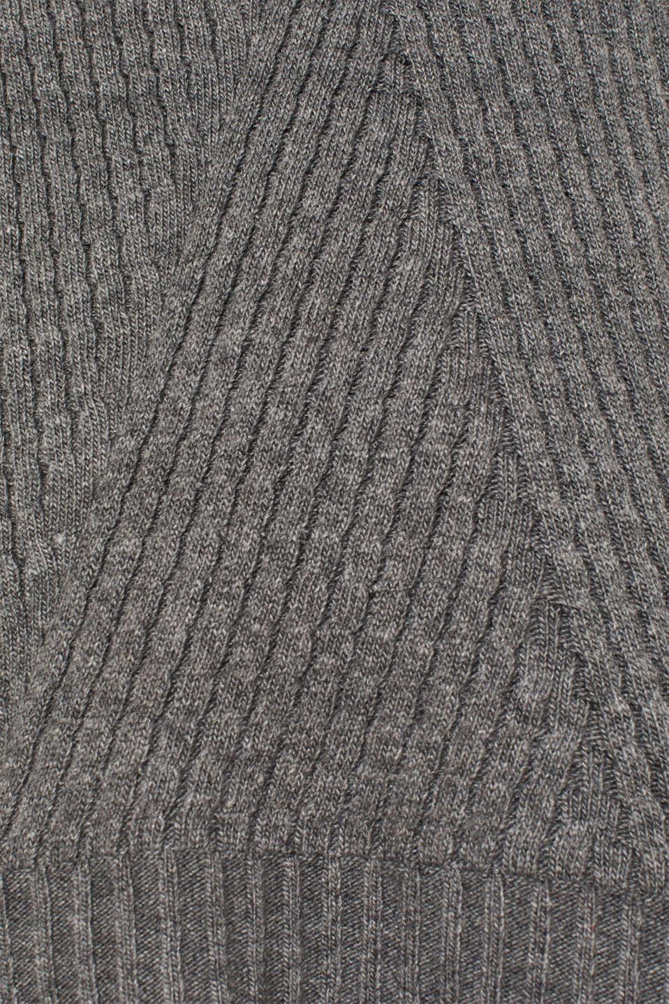 Sweaters, GUNMETAL 5, detail image number 3