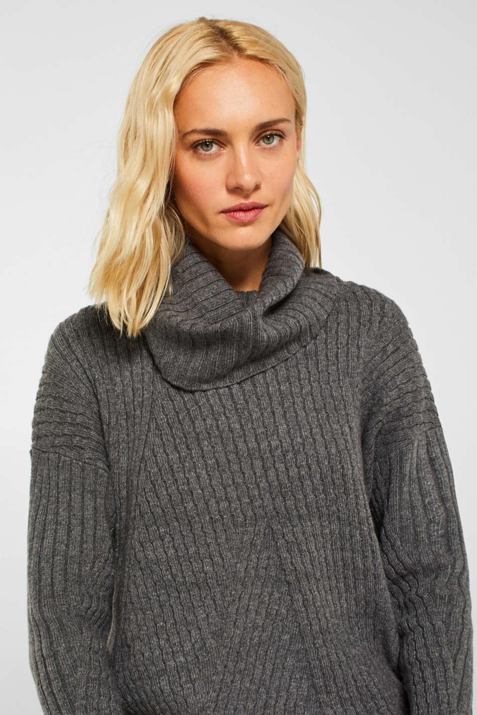 Sweaters, GUNMETAL 5, detail image number 6
