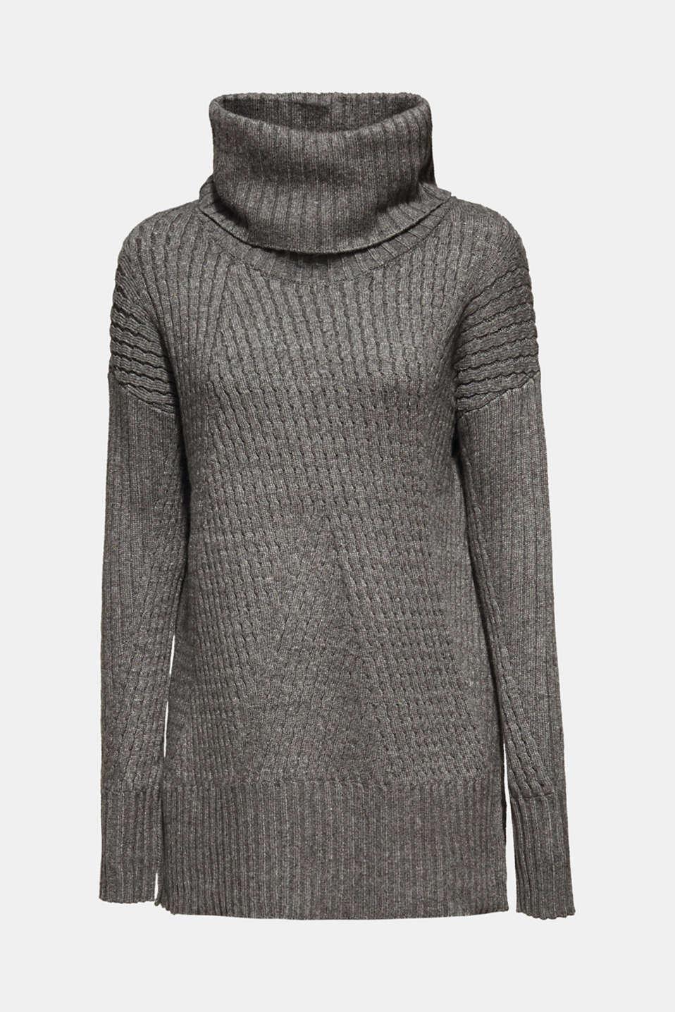 Sweaters, GUNMETAL 5, detail image number 7