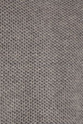 With wool: Cardigan in a textured look