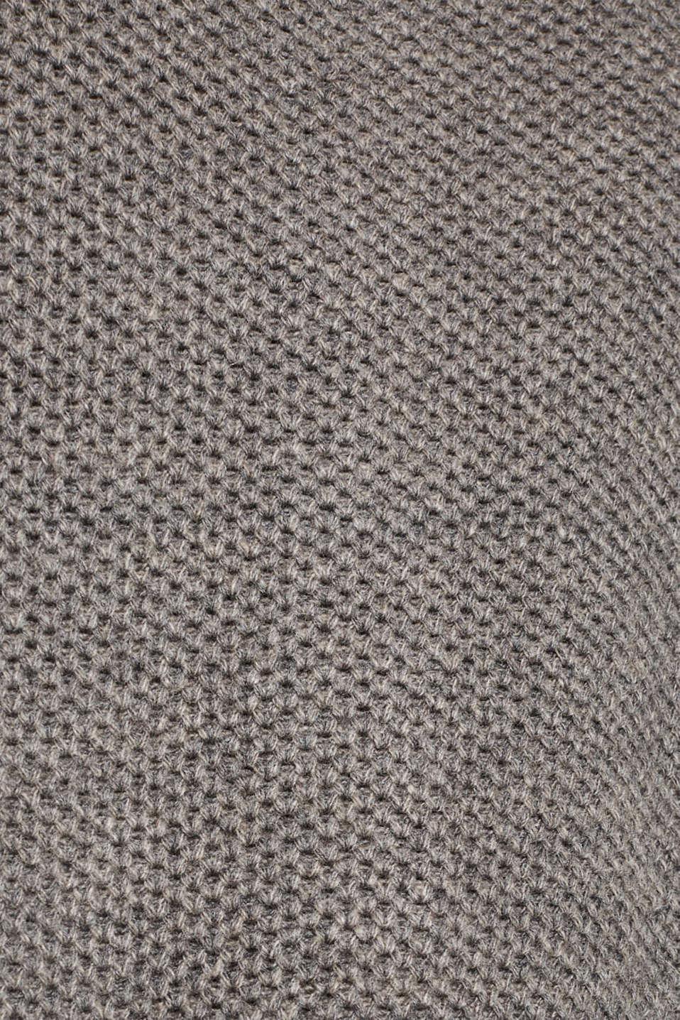 Sweaters cardigan, GUNMETAL 5, detail image number 4