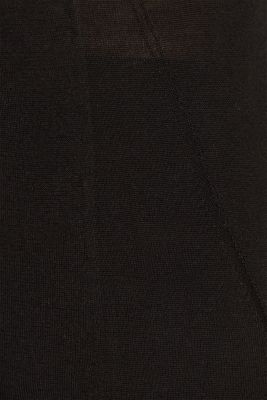 With merino wool: polo neck jumper, BLACK, detail