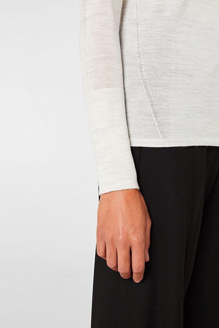 Mit Merinowolle: Pullover mit Rollkragen, ICE, detail image number 2