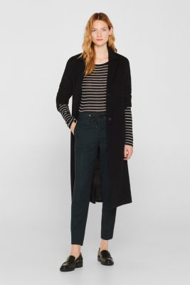 With wool: lightweight striped jumper, BLACK, detail
