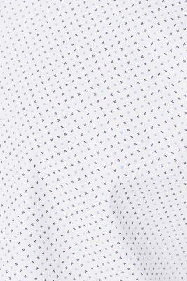 Shirt with micro print, 100% cotton, WHITE, detail