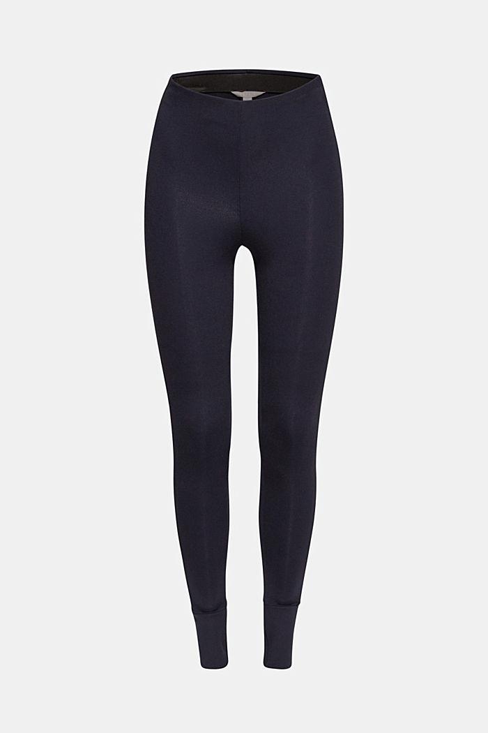 Con TENCEL™: pantalón de jersey elástico suave, NAVY, detail image number 0