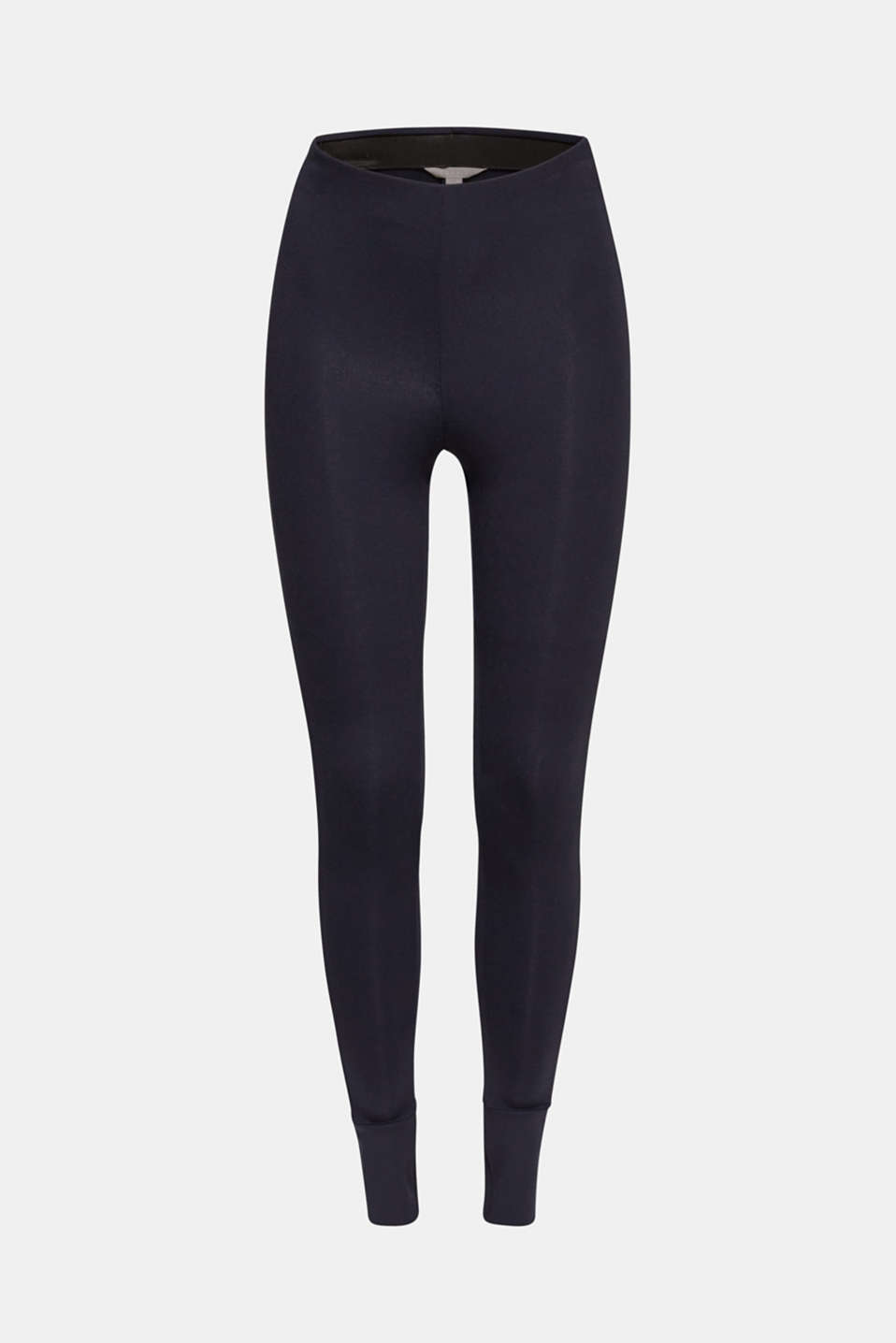 Soft jersey stretch trousers with TENCEL™, NAVY, detail image number 5