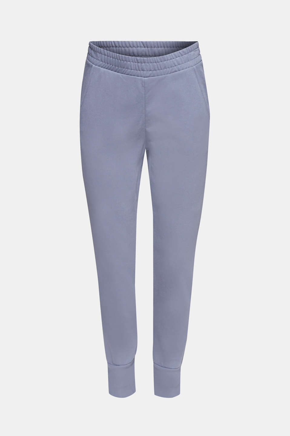 Jersey trousers with ribbed cuffs, GREY BLUE, detail image number 6