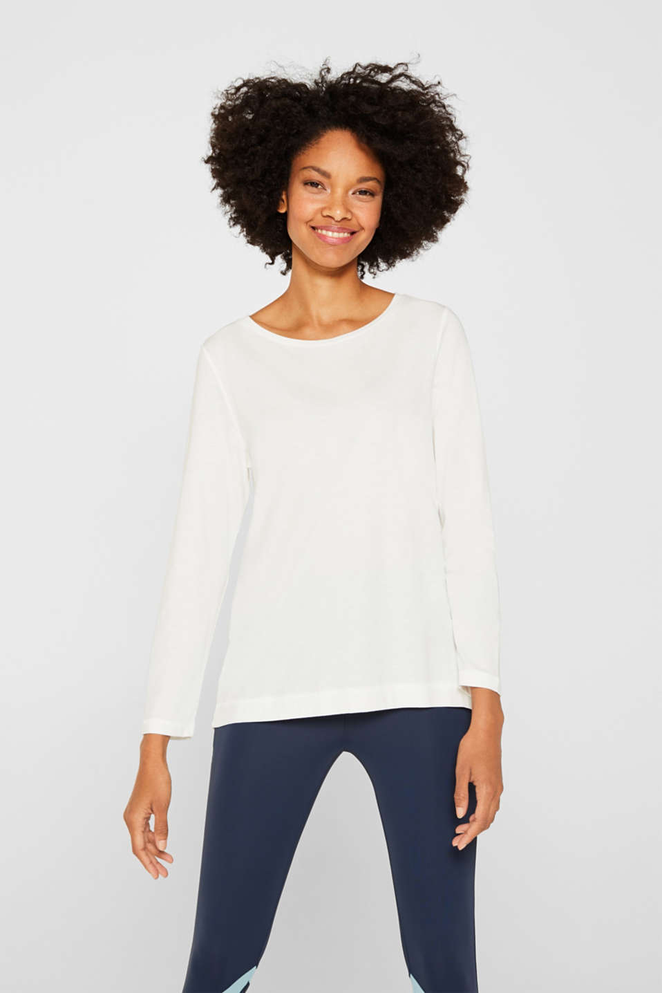Esprit - Long sleeve top with a wide neckline
