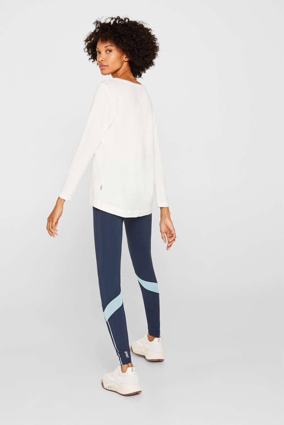 Long sleeve top with a wide neckline, OFF WHITE, detail image number 3