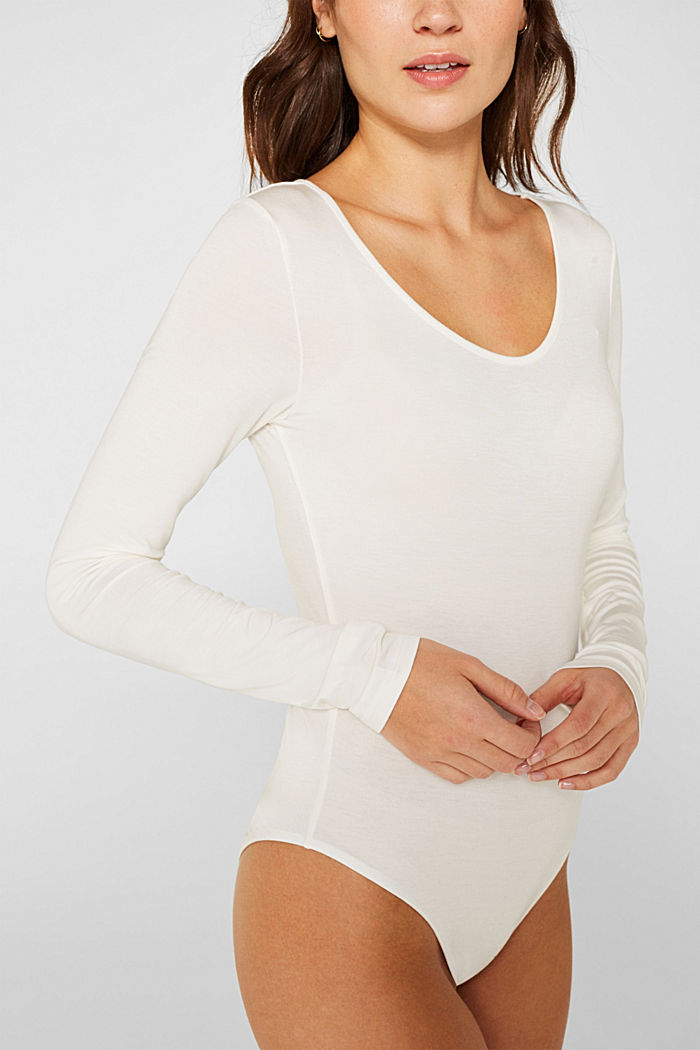 With TENCEL™: stretch jersey body, OFF WHITE, detail image number 2