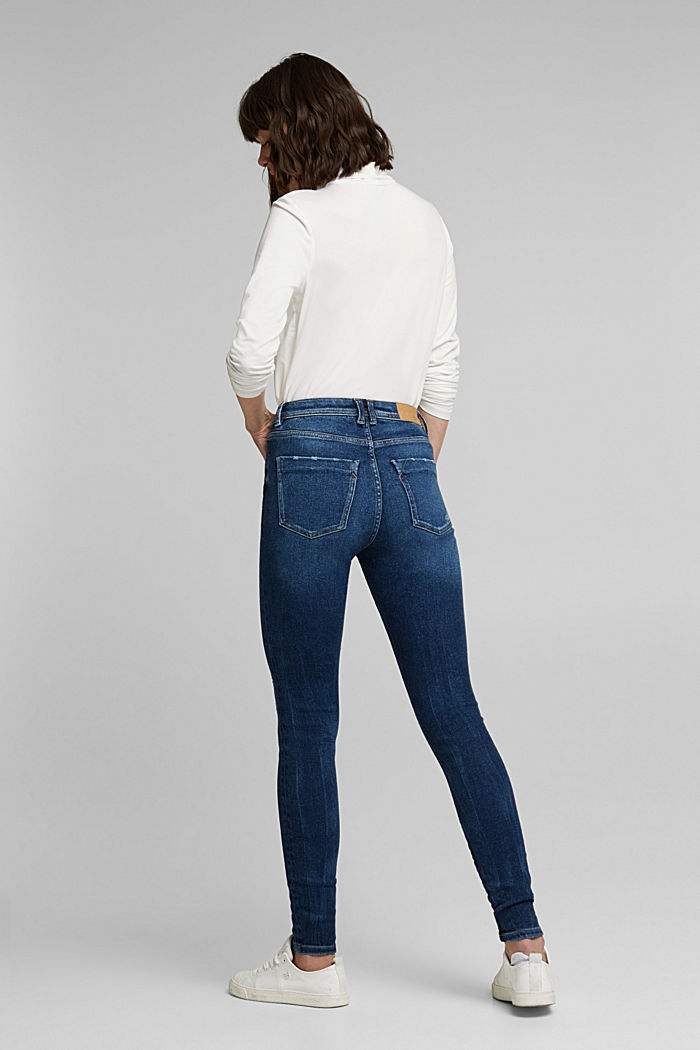Organic cotton jeans with LENZING™ ECOVERO™, BLUE DARK WASHED, detail image number 3