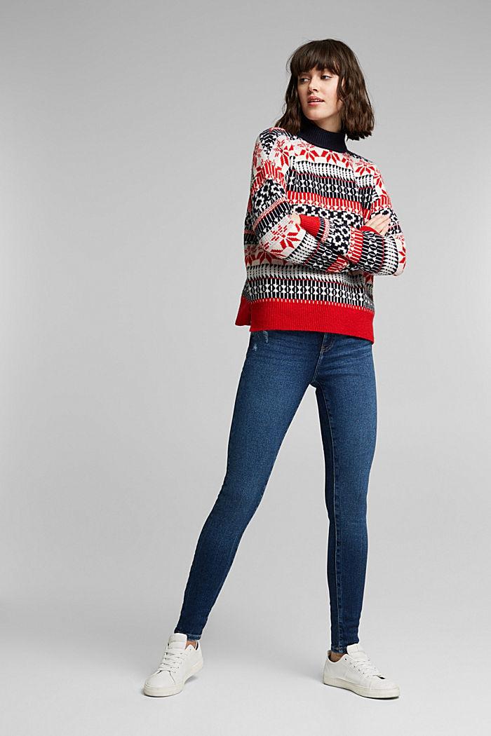 Organic Cotton Jeans mit LENZING™ ECOVERO™, BLUE DARK WASHED, detail image number 1