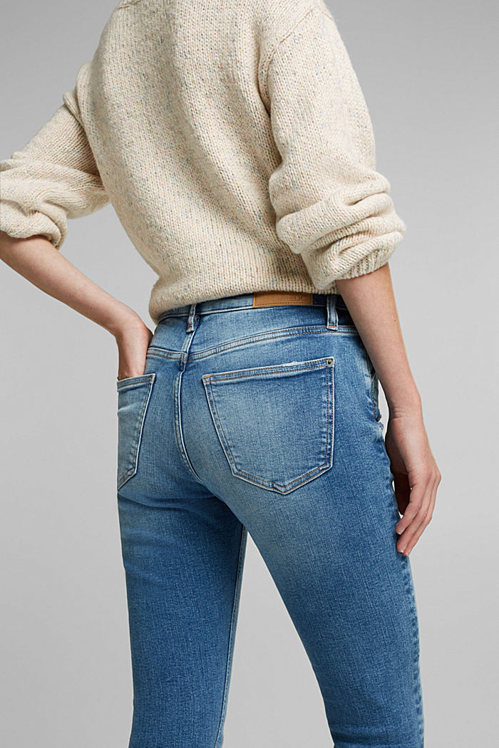 Stretch jeans in organic cotton, BLUE MEDIUM WASHED, detail image number 2