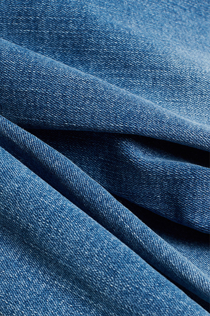 Stretch jeans in organic cotton, BLUE MEDIUM WASHED, detail image number 4