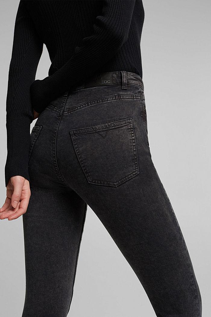 Super stretch jeans with an acid wash, BLACK, detail image number 5